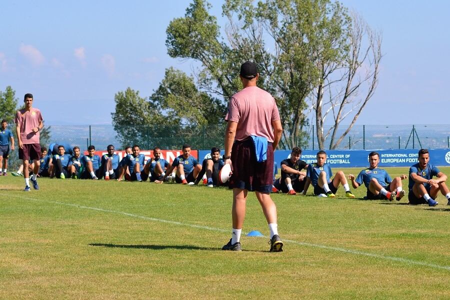 JS Kabylie training at ICEF - Soccer Pre Season Training and Soccer Coach Training -ICEF International Center of European Football - Boarding soccer academy in Europe - soccer boarding school